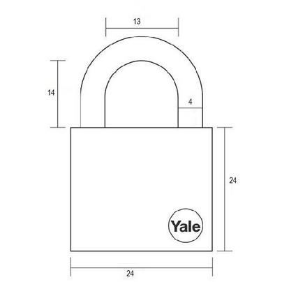 Lacat Essential cu veriga standard Yale YE1/25/113/1 25 mm