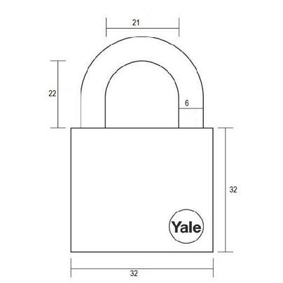 Lacat Essential cu veriga standard Yale YE1/40/122/2 40 mm 2 bucati