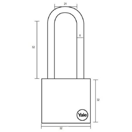 Lacat Essential cu veriga lunga Yale YE1/40/152/1 40 mm