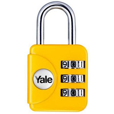 Lacat cu cifru Yale YP1/28/121/1G 28 mm Galben