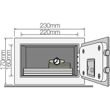 Seif standard mini Yale YSV/170/DB1/P Roz