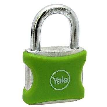 Lacat aluminiu Yale YE3/32/116/1/G 32 mm Verde