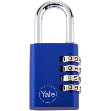 Lacat aluminiu cu cifru Yale YE3C/38/131/1/BL 38 mm Albastru