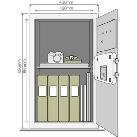 Seif standard mare birou Yale YSV/695/DB1 Negru