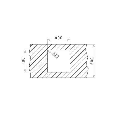 Chiuveta de bucatarie Pyramis Granit TETRAGON 40x40 1B Iron Grey