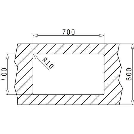 Chiuveta de bucatarie Pyramis Granit TETRAGON 70x40 1B Mocha
