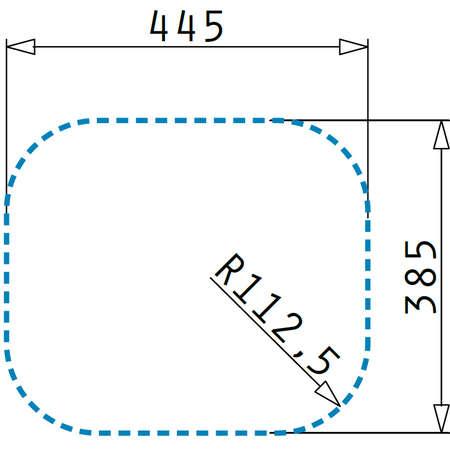 Chiuveta de bucatarie Pyramis KIBA SQUARE 465 x 405 1B SM Ø92mm Inox