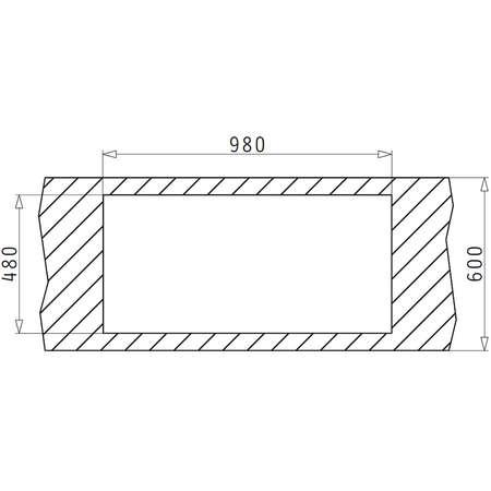 Chiuveta de bucatarie Pyramis ALEA 100x50 1 1/2B 1D Inox