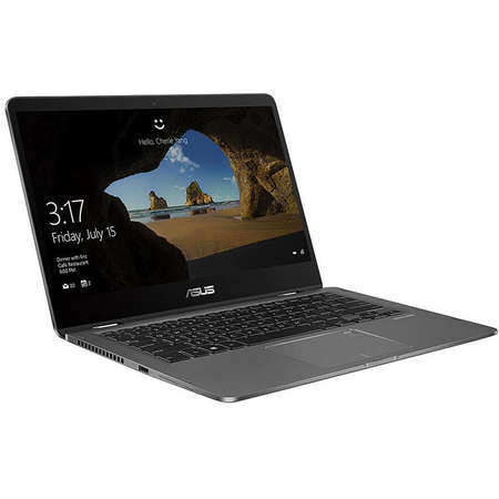 Laptop Asus ZenBook Flip UX461UA-E1017R 14 inch FHD Touch Intel Core i7-8550U 8GB DDR3 512GB SSD Windows 10 Pro Slate Gray