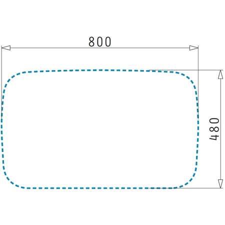 Chiuveta de bucatarie Pyramis Compozit AEOLIA - Bianco 820 x 500 Alb