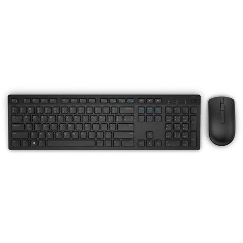 Kit wireless Tastatura + Mouse KM636 Negru thumbnail