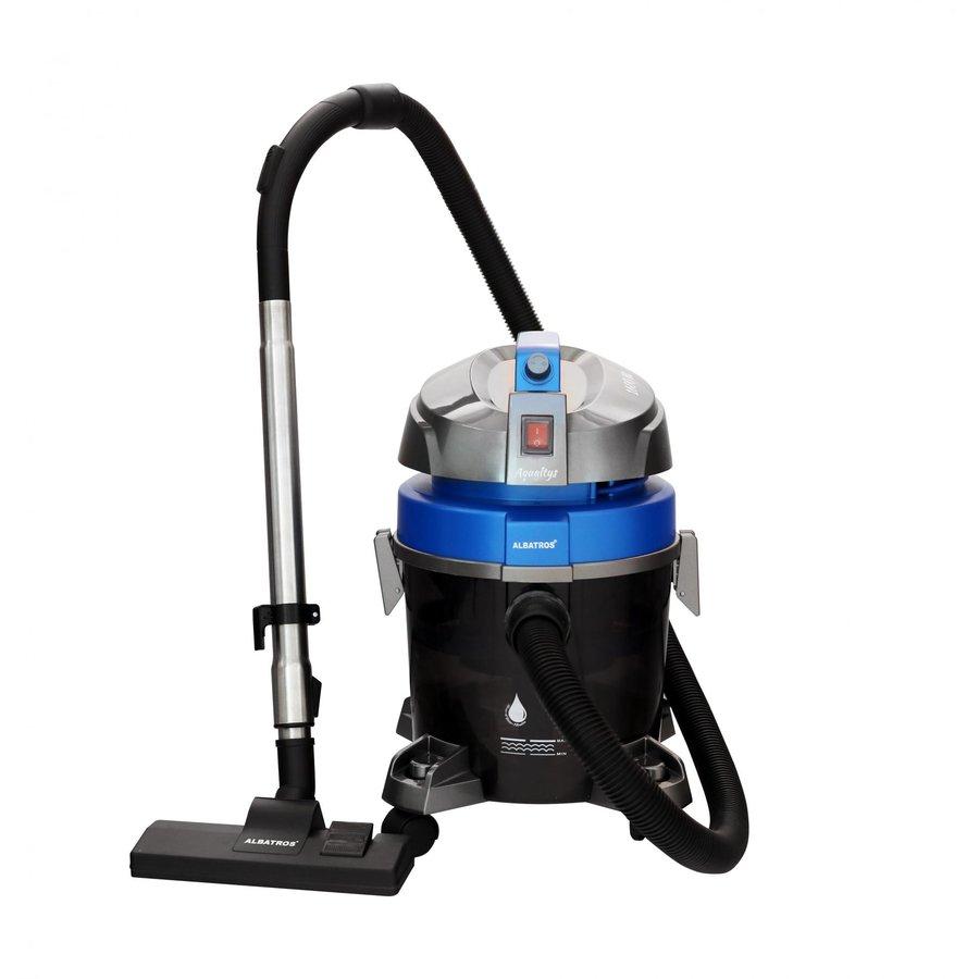Aspirator filtrare prin apa Aqualtys 7.2L Praf 3L Lichide 1600W Gri Albastru
