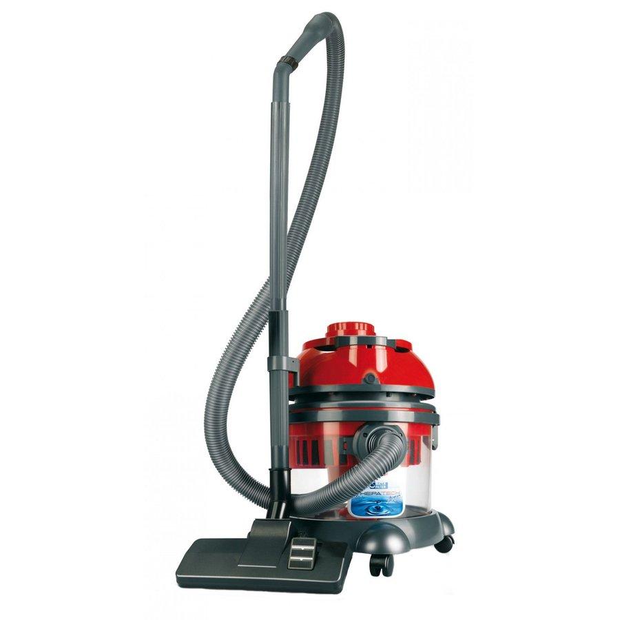 Aspirator cu Filtrare prin Apa Hepatech Aqua Putere 1600W Functie Blowing Negru/Rosu