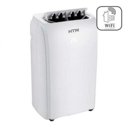 Aparat aer conditionat portabil HTW-PC-026P15WF 9000BTU Wi-Fi incorporat Clasa A Alb + Kit de instalare