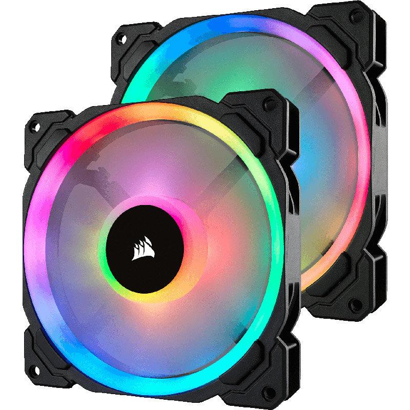 Ventilator pentru carcasa LL140 RGB LED Static Pressure 140mm Twin Pack thumbnail