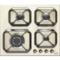 Plita incorporabila Lofra Dolcevita HRBI6G0/GA 60 cm gaz 4 arzatoare butoane bronz Crem