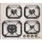 Plita incorporabila Lofra Dolcevita HRA6G0/GA 60 cm gaz 4 arzatoare butoane bronz Avena