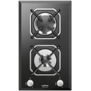 Plita incorporabila Lofra Diadema HGN320 30 cm gaz 2 arzatoare Sticla neagra