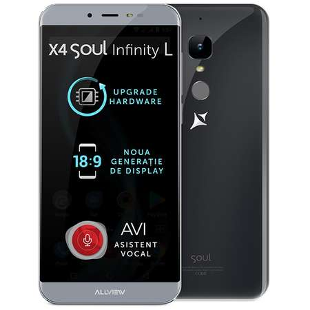 Smartphone Allview X4 Soul Infinity L 16GB Dual Sim 4G Steel Grey