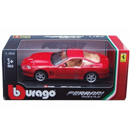 Macheta auto BBURAGO Ferrari 550 Maranello Scara 1:24