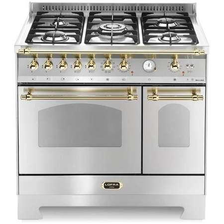 Aragaz Lofra Dolcevita RSD96MFTE/CI Gaz 5 arzatoare Grill Rotisor Aprindere electronica Timer Cuptor dublu Inox