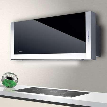 Hota decorativa Baraldi Frame 01FRA090STB80 90 cm 800 m3/h sticla Neagra / Inox