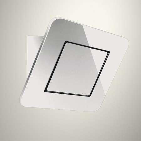 Hota decorativa Baraldi Galaxy Glass 01GAL090WH80 90 cm 800 m3/h sticla Alba