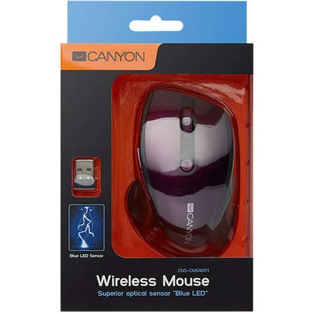 Mouse Canyon CNS-CMSW01P Wireless Purple Pearl Glossy