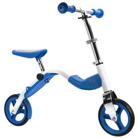 Trotineta Bicicleta 2 in 1 copii Bestial Wolf Scoobik Albastra