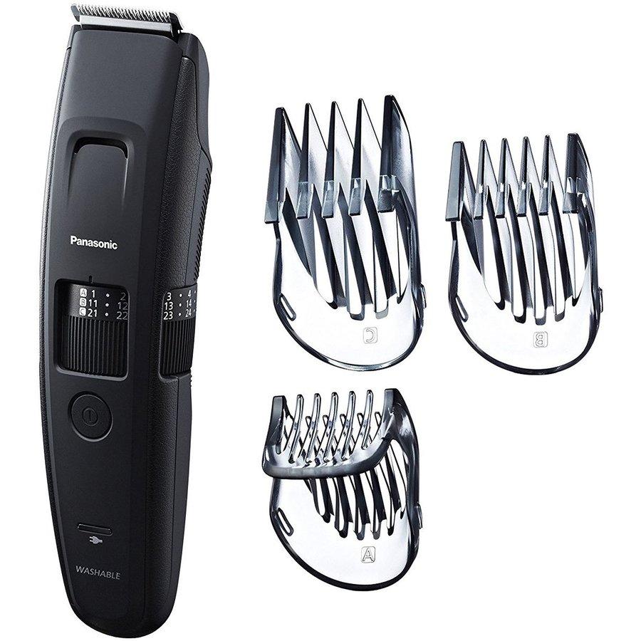 Trimmer pentru barba/par ER-GB86-K503 lavabil 57 trepte tundere 3 accesorii Negru