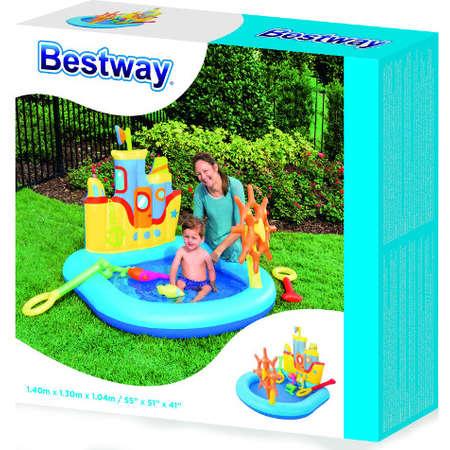 Piscina de joaca Bestway Vaporas cu carma si jucarii gonflabile