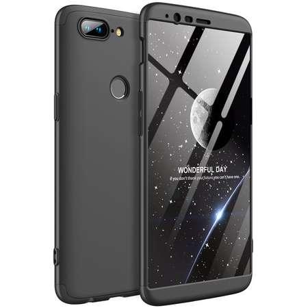 Husa Protectie Spate GKK 360 Negru pentru OnePlus 5T
