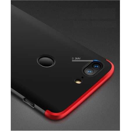 Husa Protectie Spate GKK 360 Negru / Rosu pentru OnePlus 5T