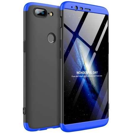 Husa Protectie Spate GKK 360 Negru / Albastru pentru OnePlus 5T