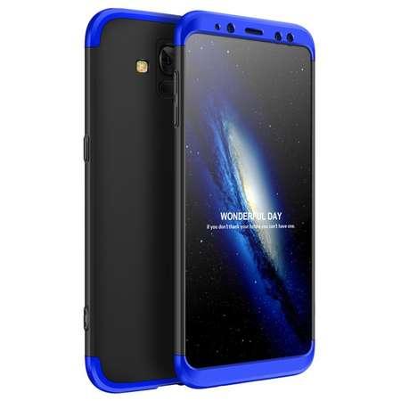 Husa Protectie Spate GKK 360 Negru / Albastru pentru Samsung Galaxy A8