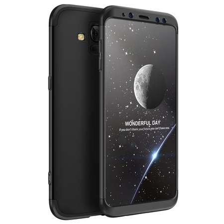 Husa Protectie Spate GKK 360 Negru pentru Samsung Galaxy A8 Plus