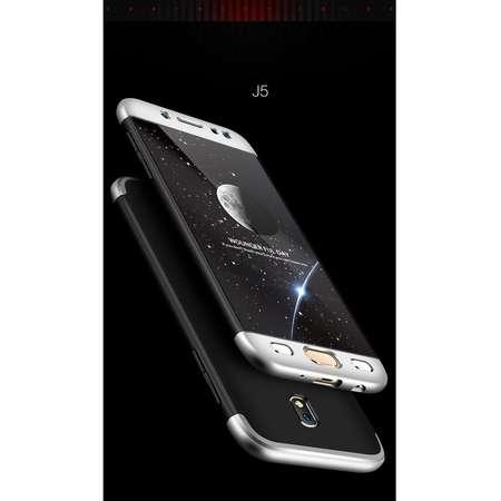 Husa Protectie Spate GKK 360 Negru / Argintiu pentru Samsung Galaxy J5 Pro / J5 2017