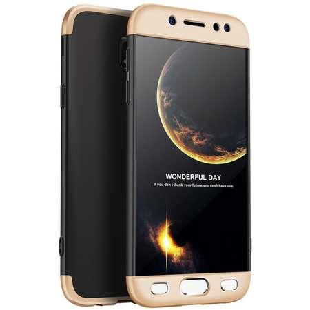 Husa Protectie Spate GKK 360 Negru / Auriu pentru Samsung Galaxy J5 Pro / J5 2017