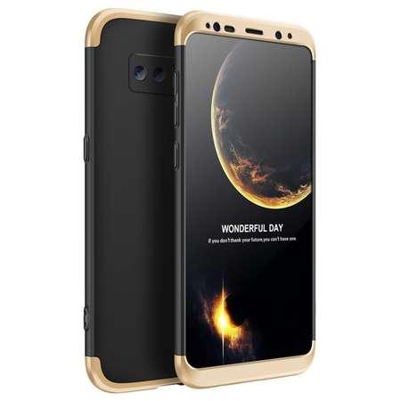 Husa Protectie Spate GKK 360 Negru / Auriu pentru Samsung Galaxy Note 8