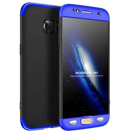Husa Protectie Spate GKK 360 Negru / Albastru pentru Samsung Galaxy S7