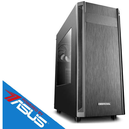 Sistem desktop Editor V6 Powered by ASUS Procesor AMD Ryzen5 1600 Hexa Core 3.4 GHz  8GB DDR4 Placa video Asus nVidia GeForce GTX 1050 Ti STRIX GAMING 4GB DDR5 SSD 120 HDD 2TB SATA III Free Dos Black