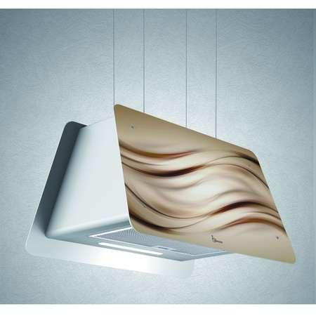 Hota decorativa suspendata Baraldi Lady Wave 01LAD070ON90 70 cm 900 m3/h Finisaj Maro