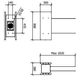 Hota decorativa suspendata Baraldi Modus 01MOD090WH80 90 cm 800 m3/h Alb