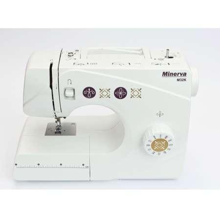 Masina de cusut electromecanica Minerva M32K 32 programe 800 RPM Alba