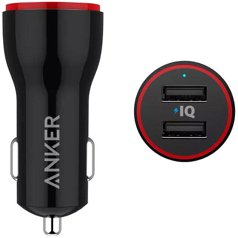 Incarcator auto PowerDrive 2 24W 2 Port Car Charger Black
