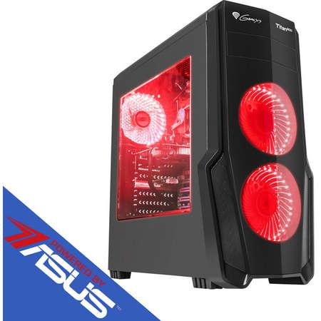 Sistem desktop Rogue 8 Powered by ASUS AMD Ryzen 7 2700 Octa Core 3.2 GHz 16GB DDR4 AMD Radeon RX 570 STRIX GAMING 4GB DDR5 HDD 1TB SSD 120GB M.2 Free Dos Black