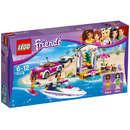 Set de constructie LEGO Friends Barca Transportoare cu Motor a Andreei