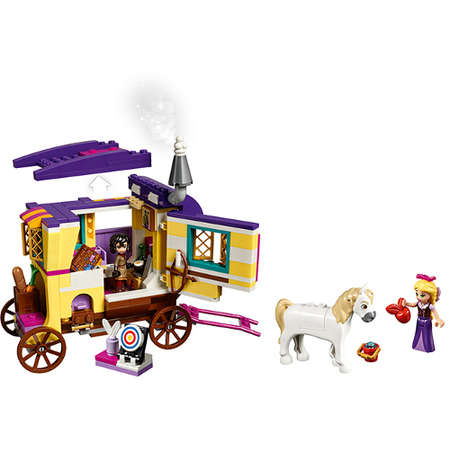 Set de constructie LEGO Disney Rulota de calatorii a lui Rapunzel