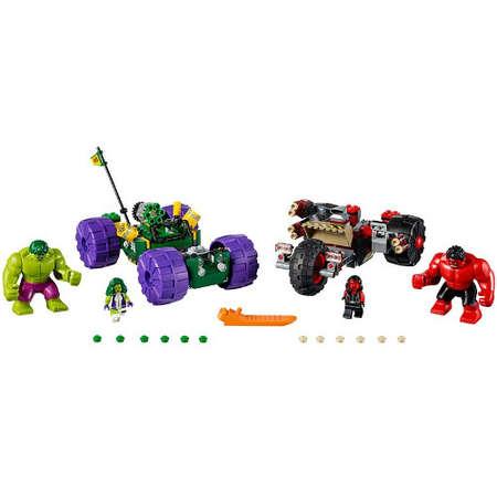 Set de constructie LEGO Marvel Super Heroes Hulk contra Hulk cel Rosu
