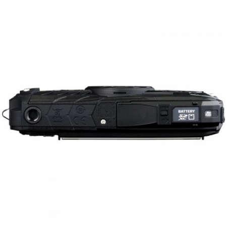 Aparat foto compact Ricoh WG-50 16 Mpx subacvatic Black Kit Husa si Floating strap